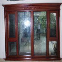 威亚森120铝木复合内开窗纱一体系列 配置5+20A+5中空钢化玻璃;隔热,保温节能; 三腔结构,强