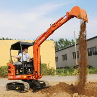 用于混凝土破碎 地下室回填及路面修复小型挖掘机 山鼎小型挖掘机厂家