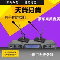SYYP思音 一拖二无线会议话筒鹅颈领夹式舞台演出麦克风  UR-8902