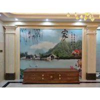 奢华盛饰瓷砖艺术背景墙定制背景墙效果图