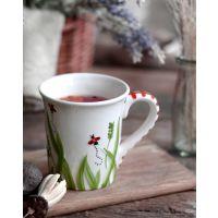 欧式创意彩绘餐具套装陶瓷西式盘子餐盘马克杯 手绘送礼浮雕杯子