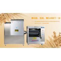 银鹤食品机械整体戗面和面馒头机成型于一体提高工作效率减少了人工成本实现自动化专利产品