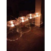 广场装饰光纤水母灯,七彩发光灯批发