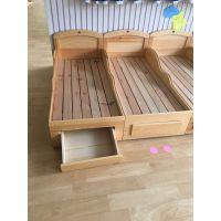 成都橡木幼儿园床各类实木玩具柜课桌椅来图定制