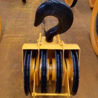批发双梁起重机配件 行车吊钩组 轧制滑轮 20吨半封吊钩组 亚重