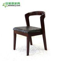 森美源咖啡北欧原创风格餐桌椅组合成人现代简约休闲奶茶店实木靠背椅