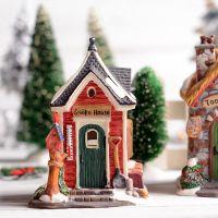 外贸工艺品圣诞树楼阁房子动物摆件 创意彩绘迷你小屋摆件礼品