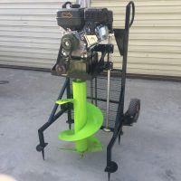 启航汽油电杆挖坑机 汽油打桩植树机 立柱手提便携式挖坑机