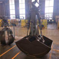挖机卸煤双开斗 液压双开贝壳斗 三一钩机抓煤斗