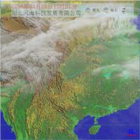 厂家供应 河海Himawari卫星云图接收处理系统向日葵8号卫星Himawari-8气象卫星接收处理