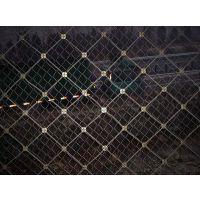 钢丝绳网批发 钢丝格栅网施工方案 边坡防护工程