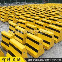 济南隔离墩厂家供应500*500水泥防撞墩黄黑色价格便宜质量保证