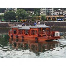 供应南京双层游船 水上木质游船 水上景区游玩船