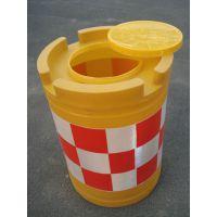 防撞桶加厚圆形交通设施防撞大水马隔离墩道路灌水灌沙分流桶