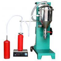 供应山东干粉灌装回收一体机,GFM16-1 干粉灭火器不锈钢灌充机厂家