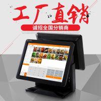 奥家AK-580T触摸屏收银机收款机餐饮奶茶快餐超市智能收银机系统
