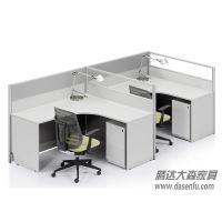 北京腾达大森现代高档磨砂屏风工位员工办公桌职员办公位DS-WSK015