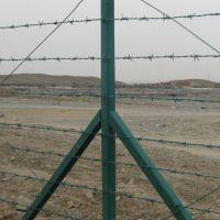 市政园林刺绳防护网 带刺铁丝网 浸塑绿色刺铁丝