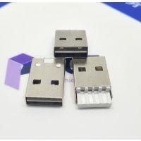 A公双面插焊线式/正反插/两面插/双向USB2.0公头4P单面焊线式