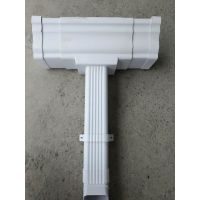 pvc软管雨水管曲能建材别墅成品天沟檐沟雨水管彩铝落水系统