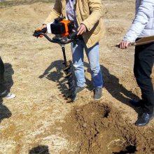 汽油二冲程植树挖坑机 汽油轻便手提挖坑机 大马力螺旋挖坑机