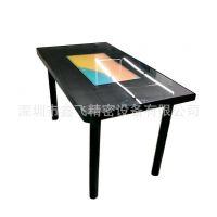 简约现代黑色高雅款 XF 四人餐桌智能触摸可娱乐智能桌鑫飞智显多媒体触碰液晶餐桌