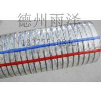 南京塑胶供应透明塑料钢丝管PU耐磨钢丝伸缩软管90mm弹性铜丝吸尘风管工业软