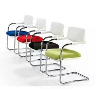 时尚网布椅子透气会议椅电镀网椅带扶手靠背办公培训椅家用电脑椅