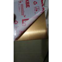 万江201钛金不锈钢板 黄钛金板现货直销