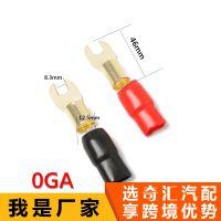 2包装汽车音频电源地线叉终端黄铜1/0测量连接器红和黑启动