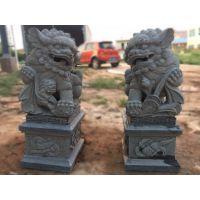 厂家定制石雕献钱狮青石狮子祠堂门口狮子