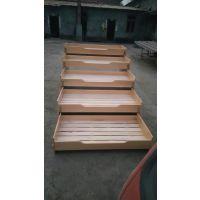 成都鸿腾幼儿园家具定制 重叠床 实木单层床 五层实木推拉床幼儿家具定制