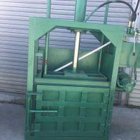 服装厂下脚料打包机 多功能启航立式油漆桶压扁机 单缸立式木屑刨花压缩打包机