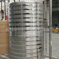 供应圆柱形不锈钢保温水箱 自动循环运行太阳能配套热水保温桶 瑞创可定制