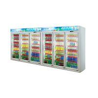 安德利厂家订制六门饮料柜 啤酒牛奶冷藏柜 多门冷冻饮料柜展示柜