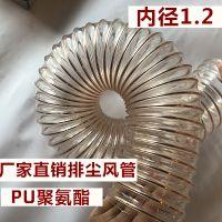 供应家具厂木屑吸排管,吸尘软管,pu通风管,pu透明钢丝伸缩通风排气管