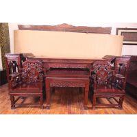 古典中式客厅中堂组合/山东黑酸枝红木家具市场在哪里