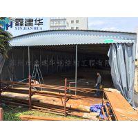 苏州姑苏活动钢架大蓬收缩雨棚布大型活动仓库雨棚图库