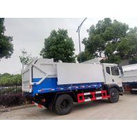 侧吊桶污泥清运车价格说明、10方12吨污泥垃圾收集车厂家报价