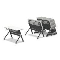 折叠培训桌 扇形学习课桌 圆形组合会议桌 众晟板式家具