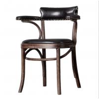 倍斯特热销现代中式实木扶手椅典雅中国风中餐椅奶茶咖啡餐椅厂家定制