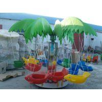 广场12座电动旋转秋千鱼公园电瓶12座椰子树儿童旋转飞鱼彩灯吊篮