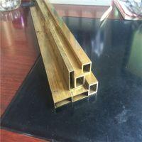 优质黄铜方管 H63大规格四方铜管 国标铜方管30*30*1.0mm