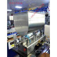 搅拌式浓酱电动灌装机供应商@济南沃发机械#青州气动粘稠物料搅拌灌装机价格