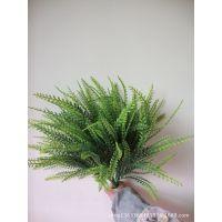 仿真绿色植物 假花塑料火龙叶塑料草装饰草 批发