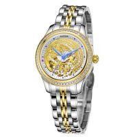 RAIDOX瑞度士手表 工艺定制款凤表 金色镂空女机械表