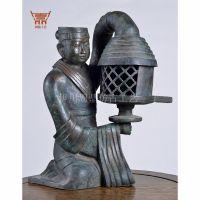 长信宫灯青铜器仿古摆件道具模型中式工艺品客厅家居装饰品周鼎工艺