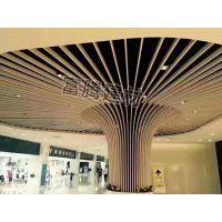 铝格栅U型槽吊顶集成弧形方管吊顶造型长条形木纹方通