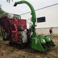 型号齐全优质靑储机改装履带式牧草收割机 秸秆粉碎收集机