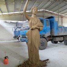 玻璃钢雕塑美国哥伦比亚电影手擎火炬女神雕像铸铜艾美丽巴克勒好莱坞电影女神塑像彩绘全身站立像半身头胸像